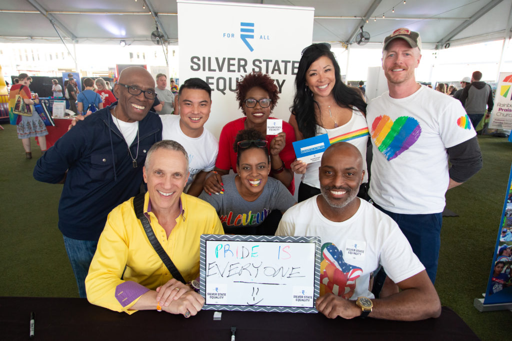 Proud Silver State Equality Members at a Convention